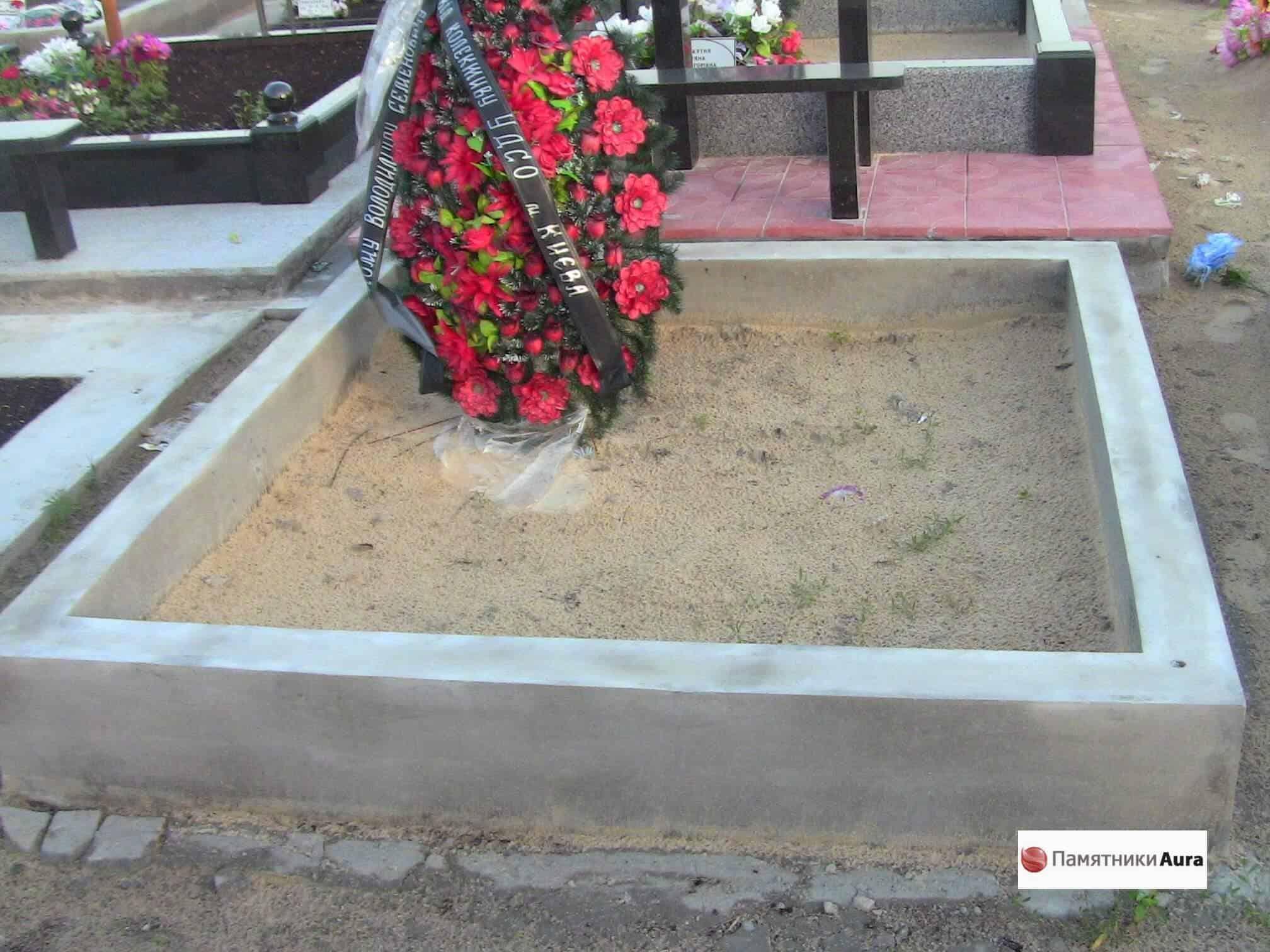 Как сделать поребрик на могилу